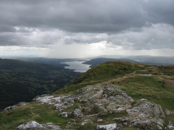 Windermere from Heron Pike's summit