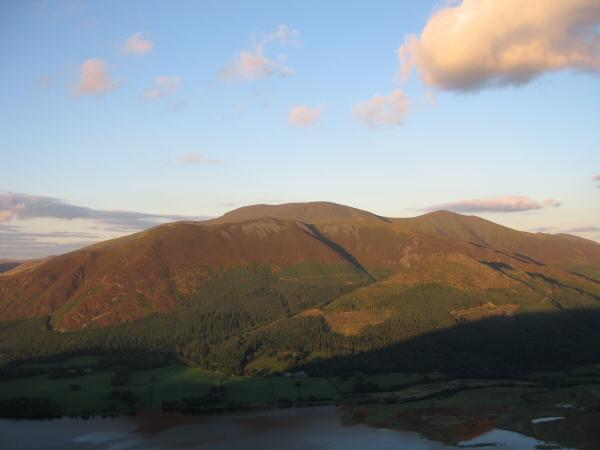 The Skiddaw fells from Barf's summit