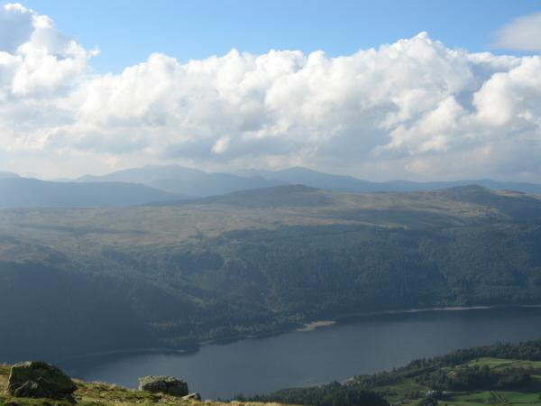 Looking over Thirlmere, High Seat and Bleaberry Fell to the north western fells