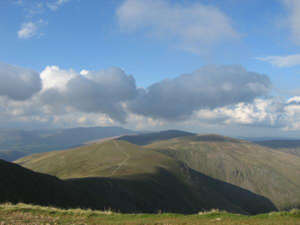 White Side and Raise with the Dodds ridge and Blencathra beyond