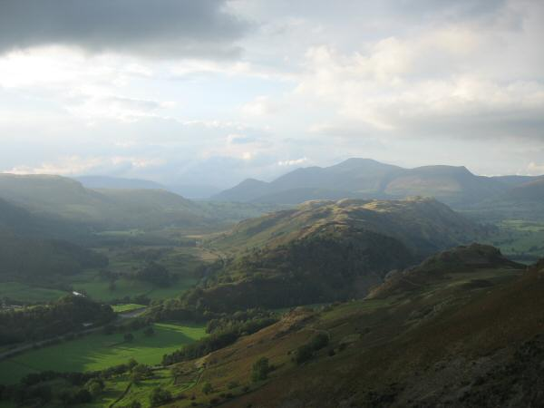 High Rigg with Skiddaw behind from the descent to Stanah from Sticks Pass