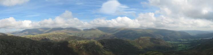 Easterly panorama from Tarn Crag's summit