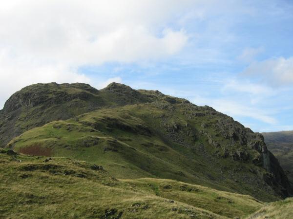 Looking back up the east ridge towards Tarn Crag's summit