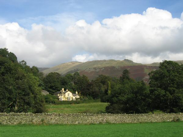Lancrigg Vegetarian Country House Hotel with Great Rigg and Stone Arthur behind