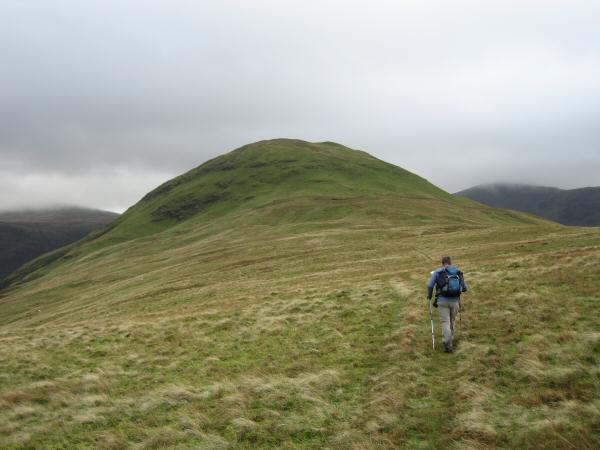 Heading for Hen Comb's summit