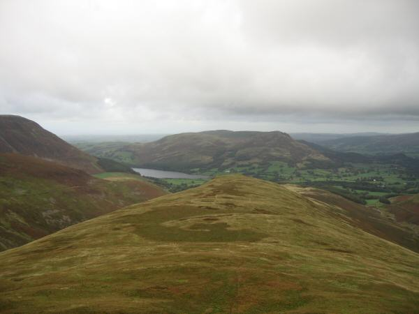 Looking back down the ridge to Little Dodd with Loweswater and Low Fell beyond