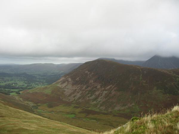 Looking over Mosedale to Mellbreak's north top