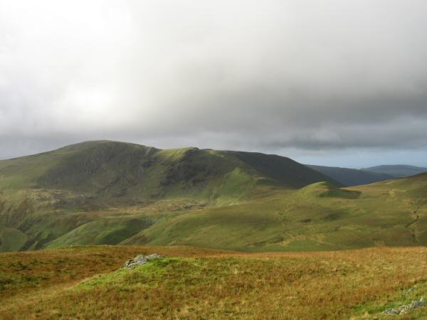 Great Borne with Floutern Cop in front on the right from Hen Comb's summit