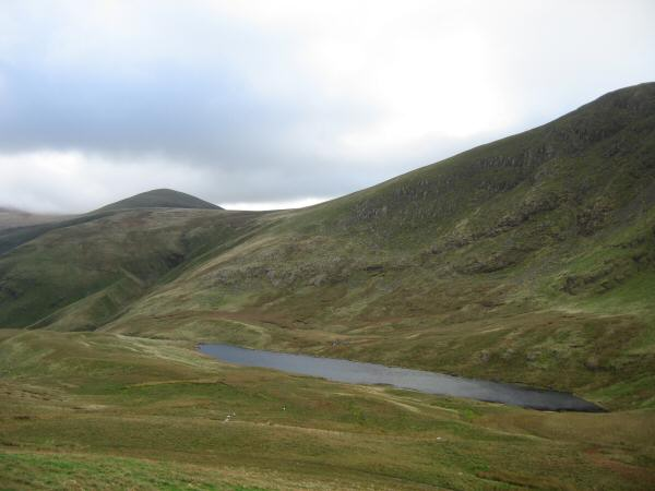 Floutern Tarn with Starling Dodd on the left from Floutern Cop