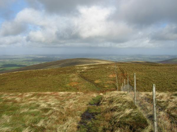 The wet path to Burnbank Fell from Blake Fell