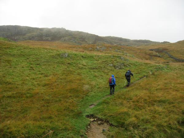 Heading up Shipman Knotts from the Kentmere - Sadgill Pass