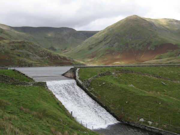 The outflow of Kentmere Reservoir