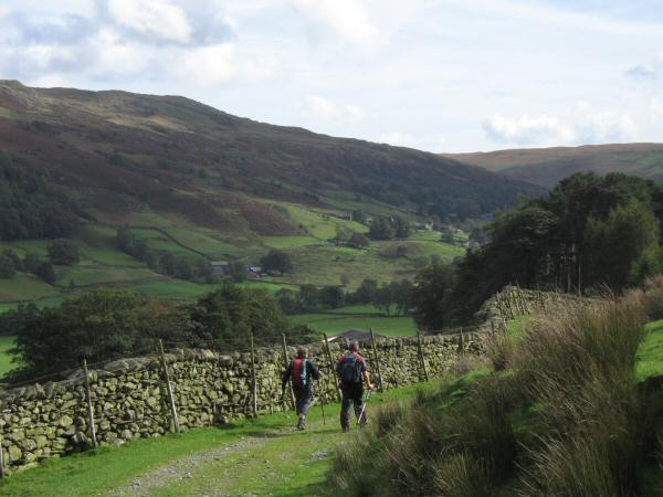 Heading for Kentmere village