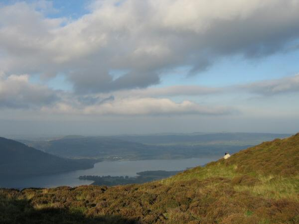 Bassenthwaite Lake from the ascent of Ullock Pike