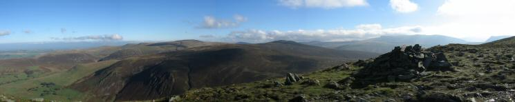 Easterly panorama from Bakestall's summit carin