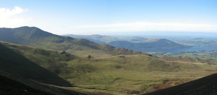 The Edge, our line of ascent, leading to Ullock Pike's summit