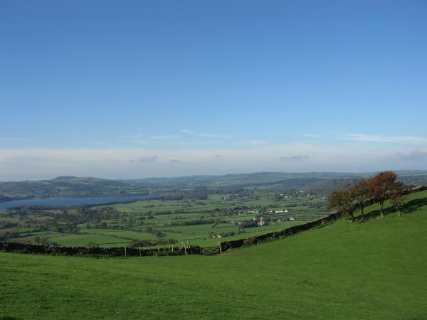 The north end of Bessenthwaite Lake as we head back across the fields to High Side