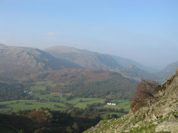 Borrowdale from the descent into The Combe