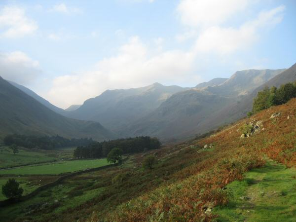 Looking up Grisedale to Dollywaggon Pike and Nethermost Pike