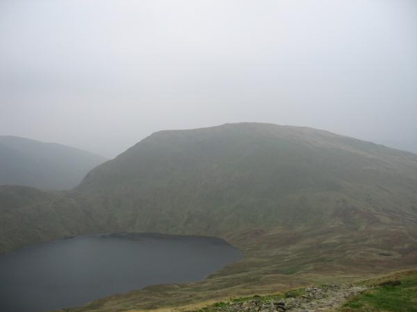 Seat Sandal and Grisedale Tarn from the Dollywaggon zig-zags