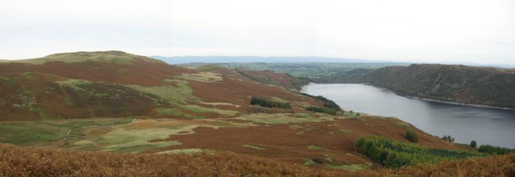 Bampton Fell (unnamed on the OS map) and Haweswater from Measand End