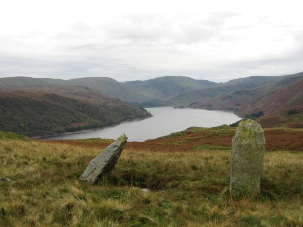 Haweswater from the standing stones next to Four Stones Hill
