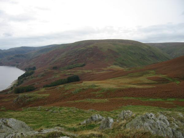 Looking back towards Measand End and Long Grain from Four Stones Hill