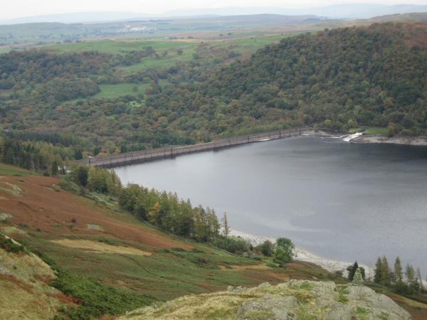 Haweswater dam from Four Stones Hill