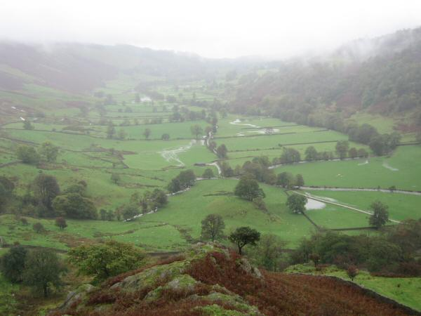 The Troutbeck valley from my ascent of Troutbeck Tongue