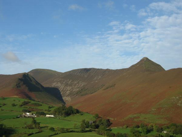 The Sail, Scar Crags, Causey Pike ridge with Ard Crags on the far left in front (to be our last peak of the day)