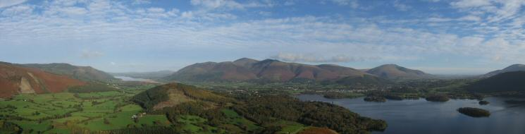 Northerly panorama from Catbells
