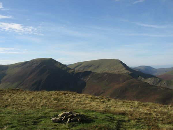 Hindscarth and Robinson from Maiden Moor's summit cairn