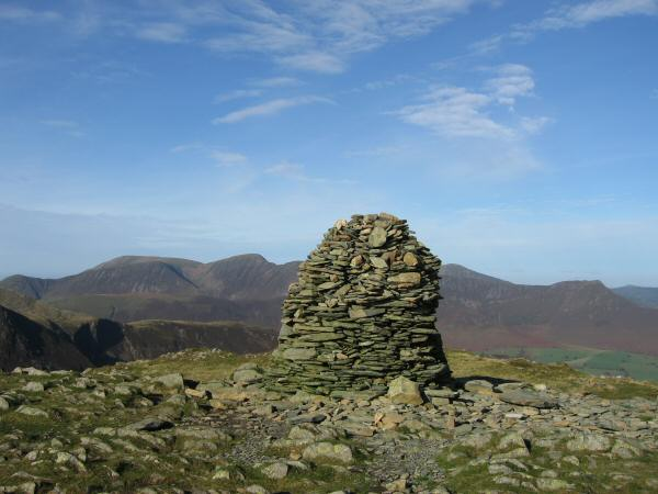 High Spy's large summit cairn