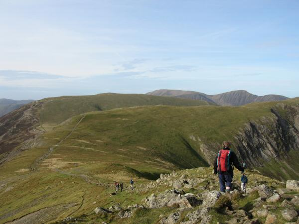 Heading for Hindscarth (summit out of shot on far right) from Dale Head