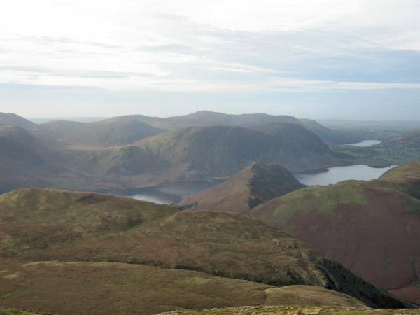 Crummock Water either side of Rannerdale Knotts, Mellbreak and Loweswater