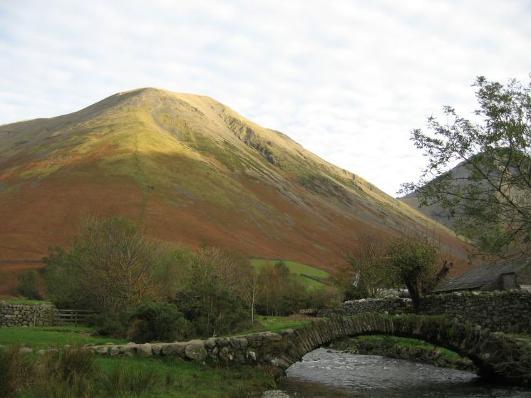 Kirk Fell from the packhorse bridge at Wasdale Head