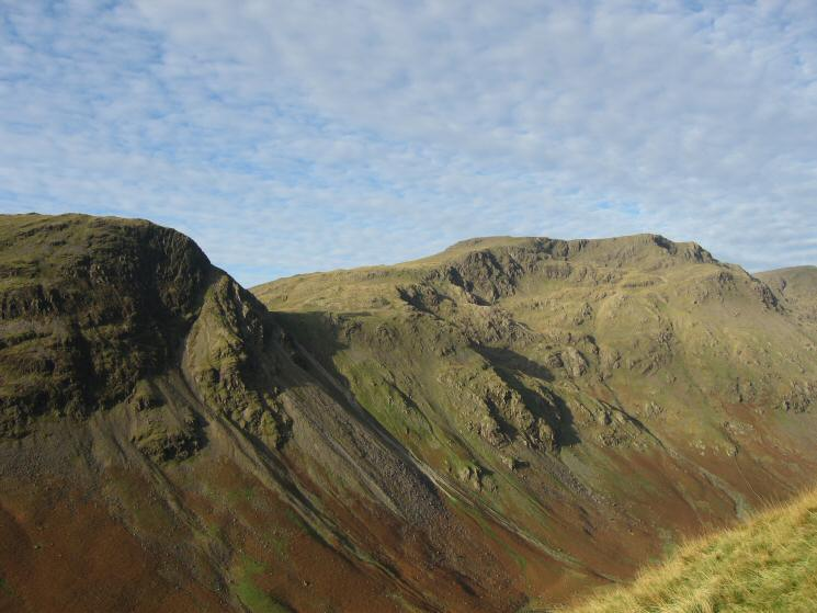 Looking across to Stirrup Crag (Yewbarrow) and Red Pike