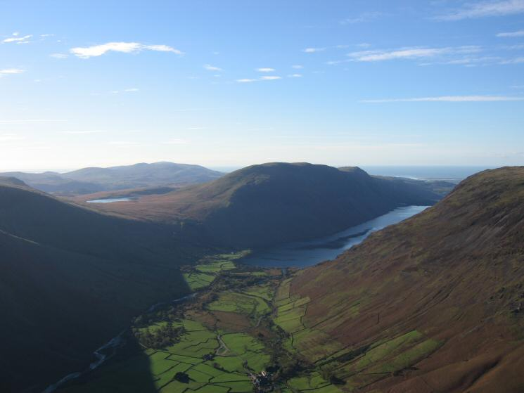 Illgill Head and Wastwater from Kirk Fell