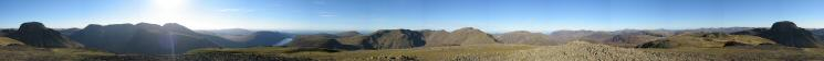 360 Panorama from Kirk Fell's summit