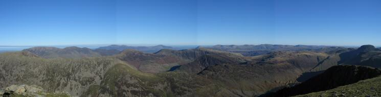 North easterly panorama from Pillar's summit