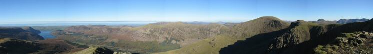 180 Northerly panorama from Steeple's summit