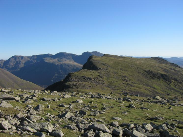 Red Pike with the Scafells beyond from Scoat Fell