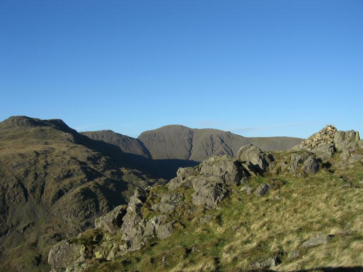 Red Pike, Black Crag and Pillar from Yewbarrow's summit
