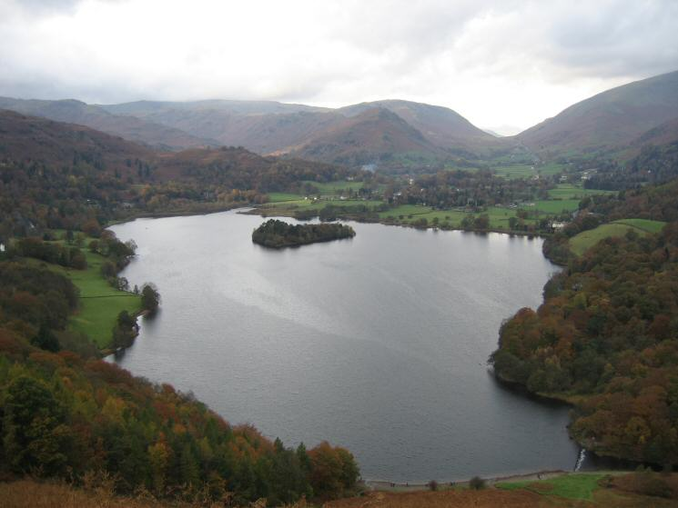 Grasmere from our ascent of Loughrigg Fell