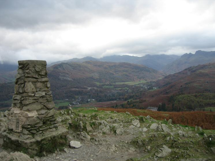 Langdale from Loughrigg Fell's summit