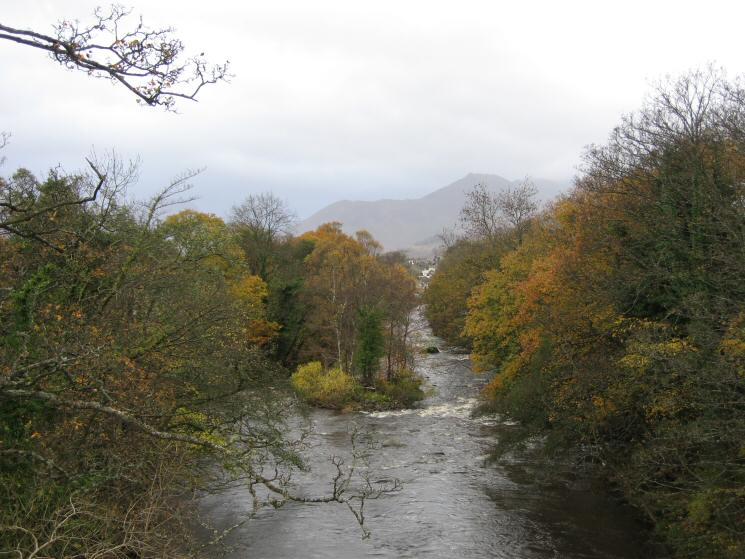 The River Greta and Causey Pike (just) as the cloud descends