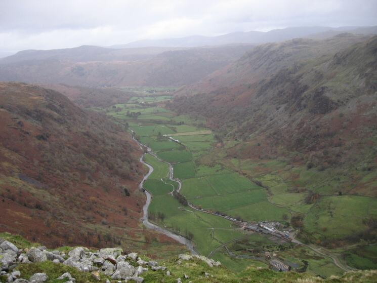Upper Borrowdale from Base Brown's north ridge