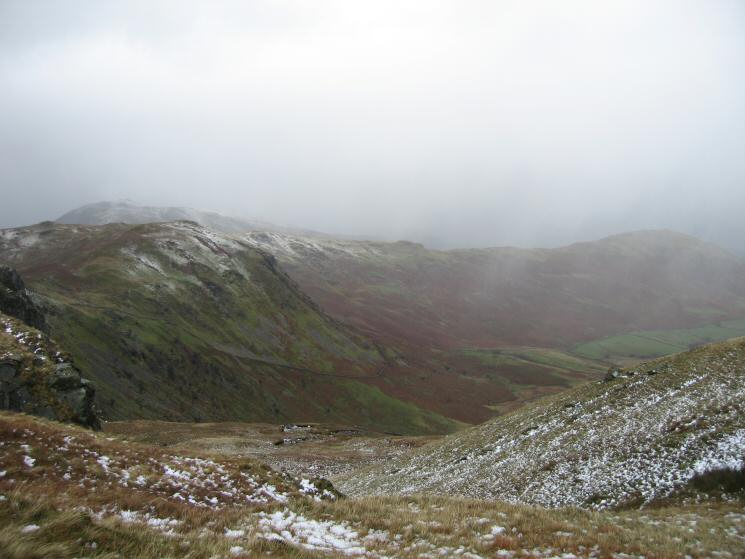 Heck Crag with Place Fell behind on the left and Beda Fell on the far right