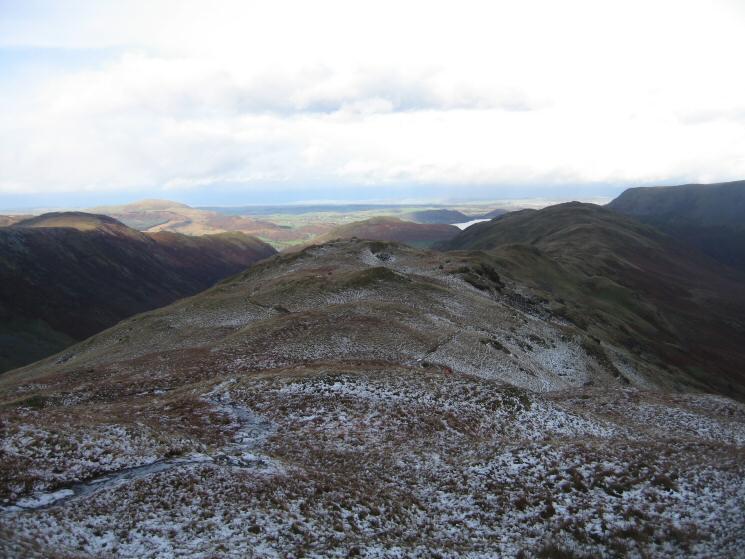 The long ridge to Beda Head