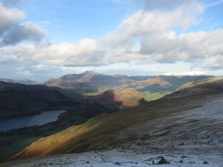 Skiddaw and Blencathra to the north